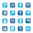Airport, travel and transportation icons - Stock Vector