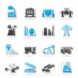 Royalty-Free Stock Vector Image: Heavy industry icons