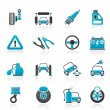 Car and road services icons - Stock Vector