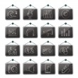 Music and audio equipment icons - Vettoriali Stock