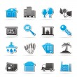 Real Estate and building icons - Stock Vector