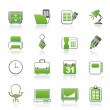 Business and office equipment icons — Imagens vectoriais em stock