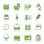 Business and office equipment icons — Cтоковый вектор