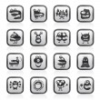 Various abstract monsters illustration - vector icon set - Stock Vector