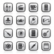 Kitchen objects and accessories icons - Stock Vector
