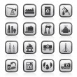 Royalty-Free Stock Vector Image: Petrol and oil industry icons
