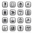 Construction and home renovation icons — Image vectorielle