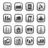 Petrol and oil industry icons — Stock Vector