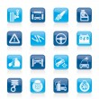 Car and road services icons — Stock Vector