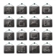 Home equipment icons — Stockvectorbeeld