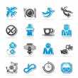 Aircraft, airport and Plane Icons — Stock Vector #29653783