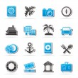 Tourism and Travel Icons — Vettoriali Stock