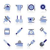 厨房小工具和设备图标 — 图库矢量图片