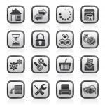 sitio web e internet iconos — Vector de stock  #30609487