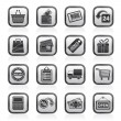 Shopping and retail icons — Stockvectorbeeld