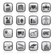 Heavy industry icons — Stock Vector