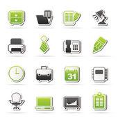 Affärs- och office utrustning ikoner — Stockvektor