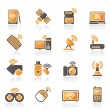 Stock Vector: Wireless and communications icons