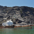 Stock Photo: Church to hot volcanic springs