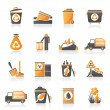 Garbage and rubbish icons — Stock vektor
