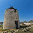 Windmill  in Ano Mera town, island of Mykonos — Stock Photo