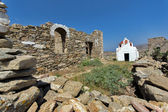 Ancient Fortress, island of Mykonos — Stock Photo