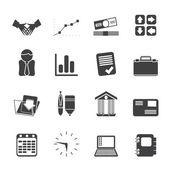 Silhouette-Unternehmen und das Büro-Symbole — Vecteur