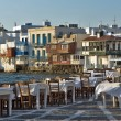 Little Venice at Mykonos Island — Stock Photo