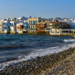 Stock Photo: Little Venice at Mykonos Island