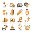 Car parts and services icons — Stock Vector #34908251