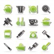 Stock Vector: Kitchen gadgets and equipment icons