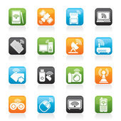 Wireless and communications icons — 图库矢量图片