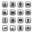 Home equipment icons — Vector de stock