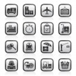 Cargo, shipping and logistic icons — Imagen vectorial