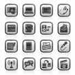 Communication and connection icons — Imagen vectorial