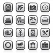 Tourism and Travel Icons — Imagen vectorial
