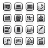 Communication and connection icons — Vector de stock