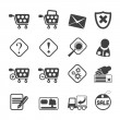 Stock Vector: Silhouette Online Shop Icons