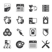 Silhouette Server Side Computer icons — Vector de stock