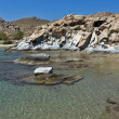 Rock formations in kolymbithres beach, Paros island — Stock Photo