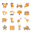 Agriculture and farming icons — Stockvektor