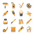 Painting and art object icons — 图库矢量图片