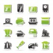 Kitchen appliances and equipment icons — Stock Vector #35683713
