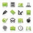 School and education icons — Image vectorielle
