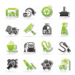 Car wash objects and icons — Stock Vector #35683737
