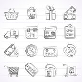 Online shop icons — Stock Vector
