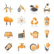 Stock Vector: Ecology, environment and recycling icons