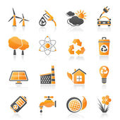 Ecology, environment and recycling icons — Stock Vector
