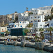 Embankment in Naxos island — Stockfoto
