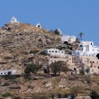 Panoramic view of Ios island — Stock Photo